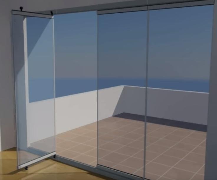poner cortina de cristal barata