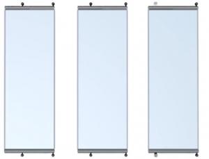 cortina de cristal apilable