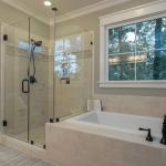 cortina transparente baño