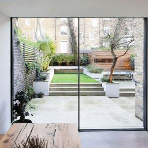 Puerta corredera porche